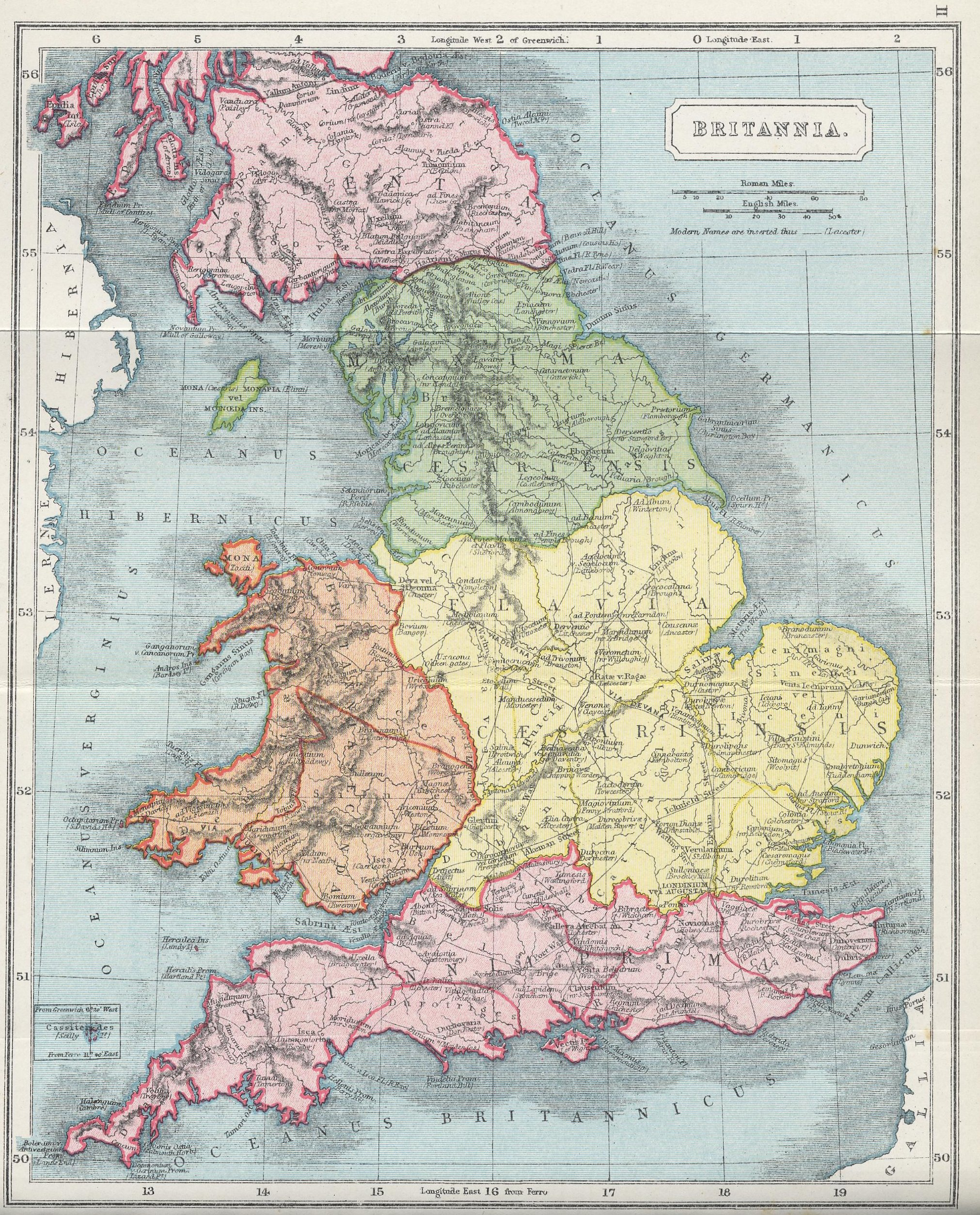 Map of Britain70 BC - AD 180