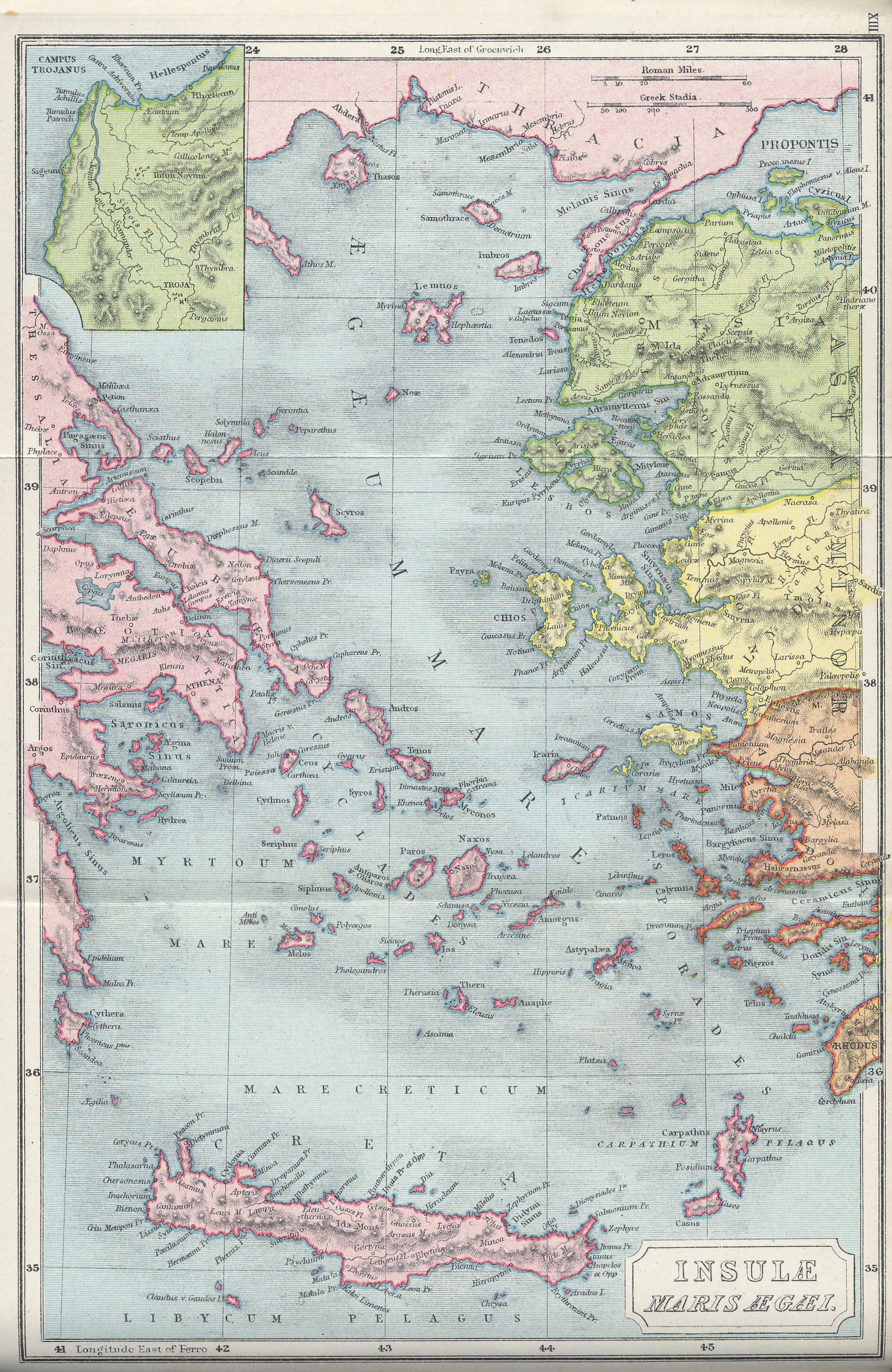 Map of Aegean Basin70 BC - AD 180