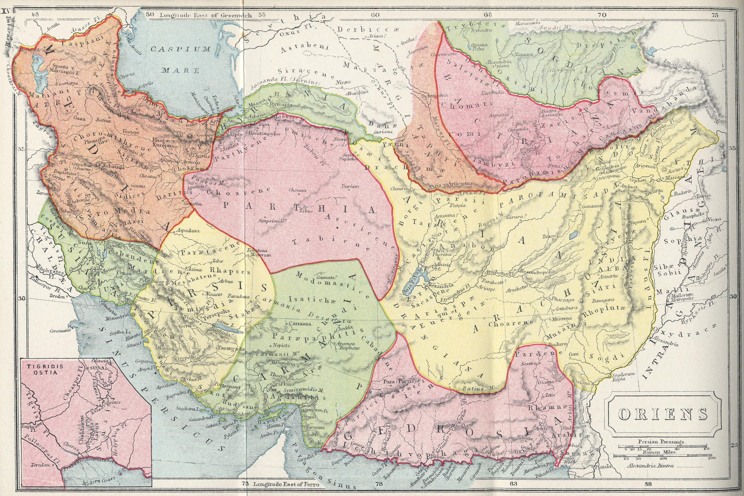 Map of Eastern Regions70 BC - AD 180