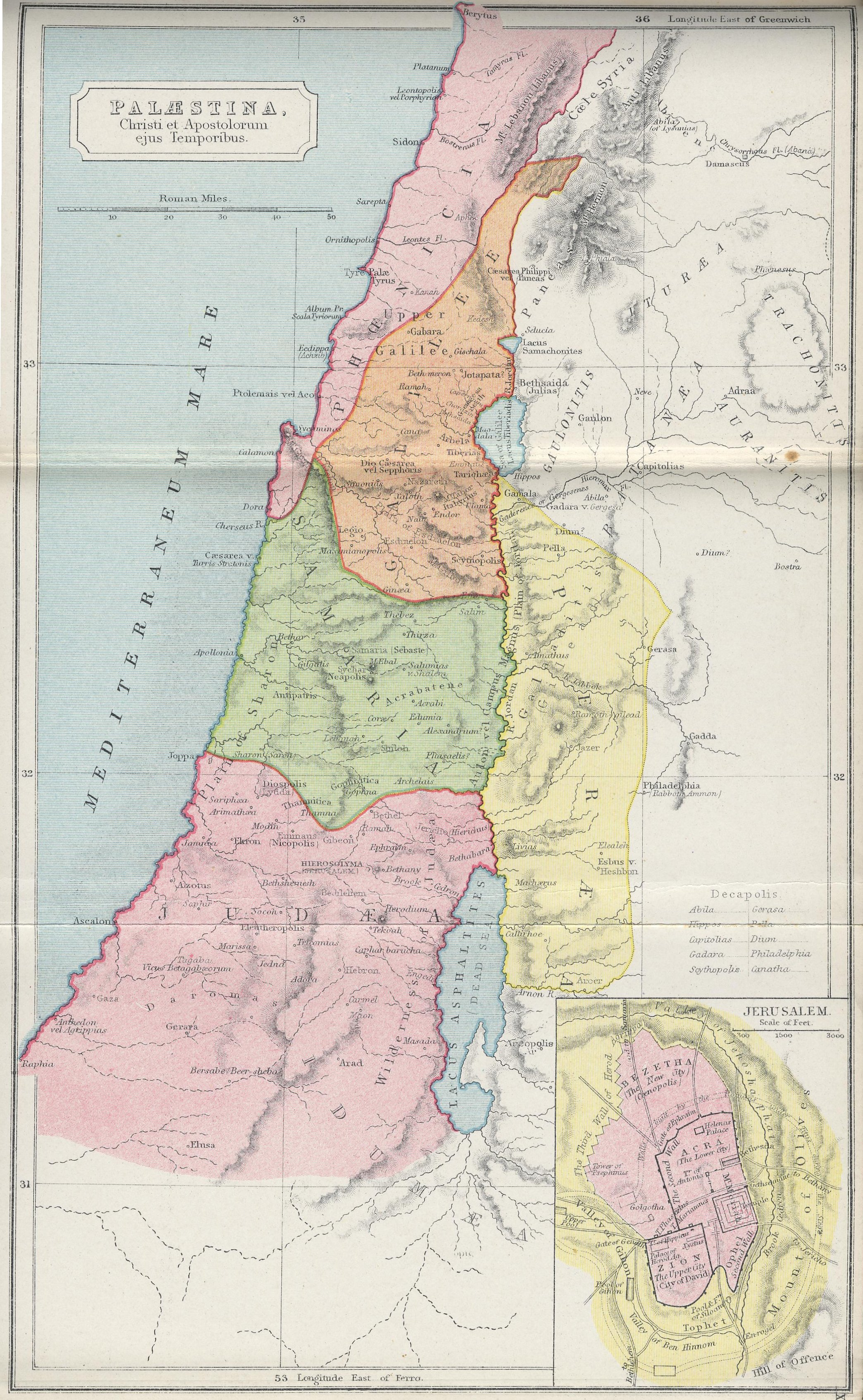 Map of Palestine70 BC - AD 180