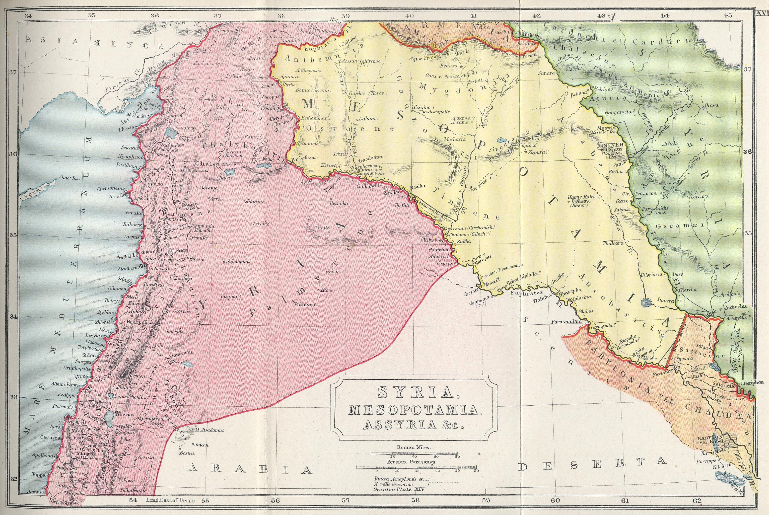 Map of Syria and Mesopotamia 70 BC - AD 180