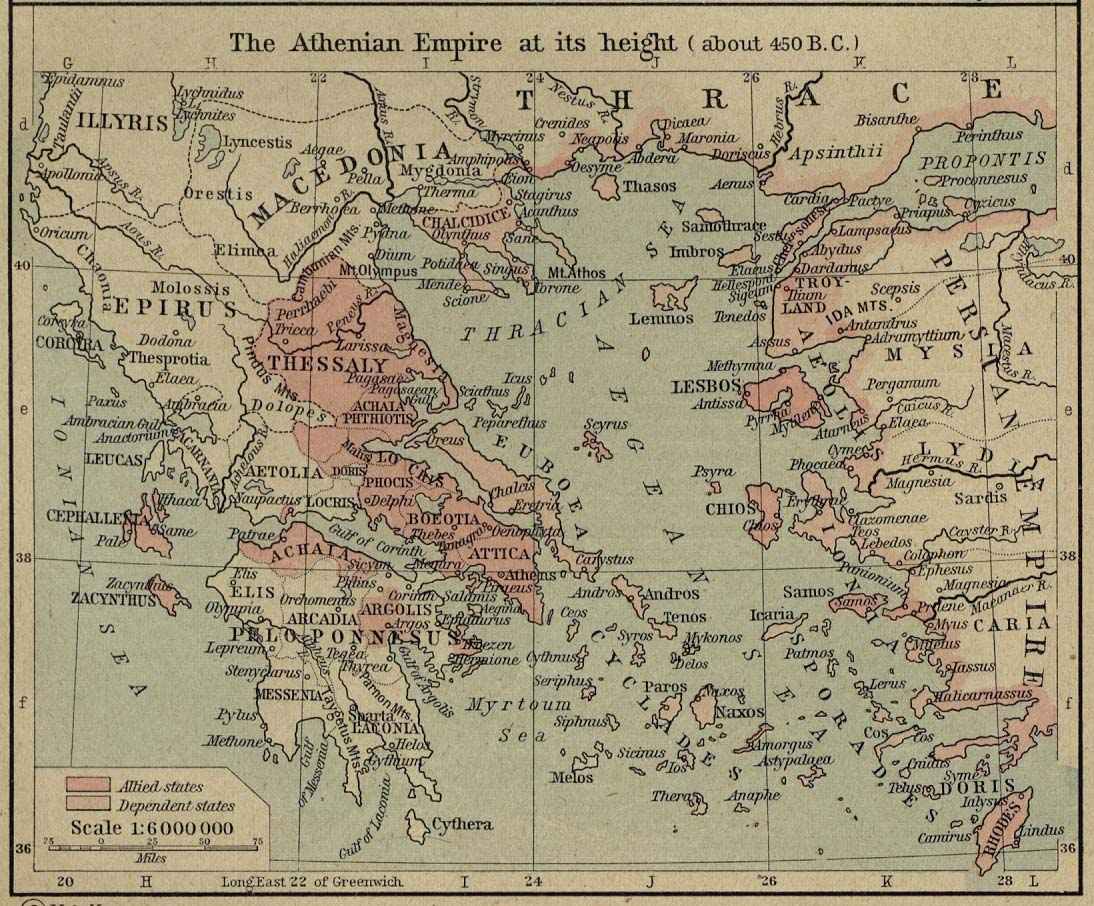 Map of Athenian Empirec. 450 BC