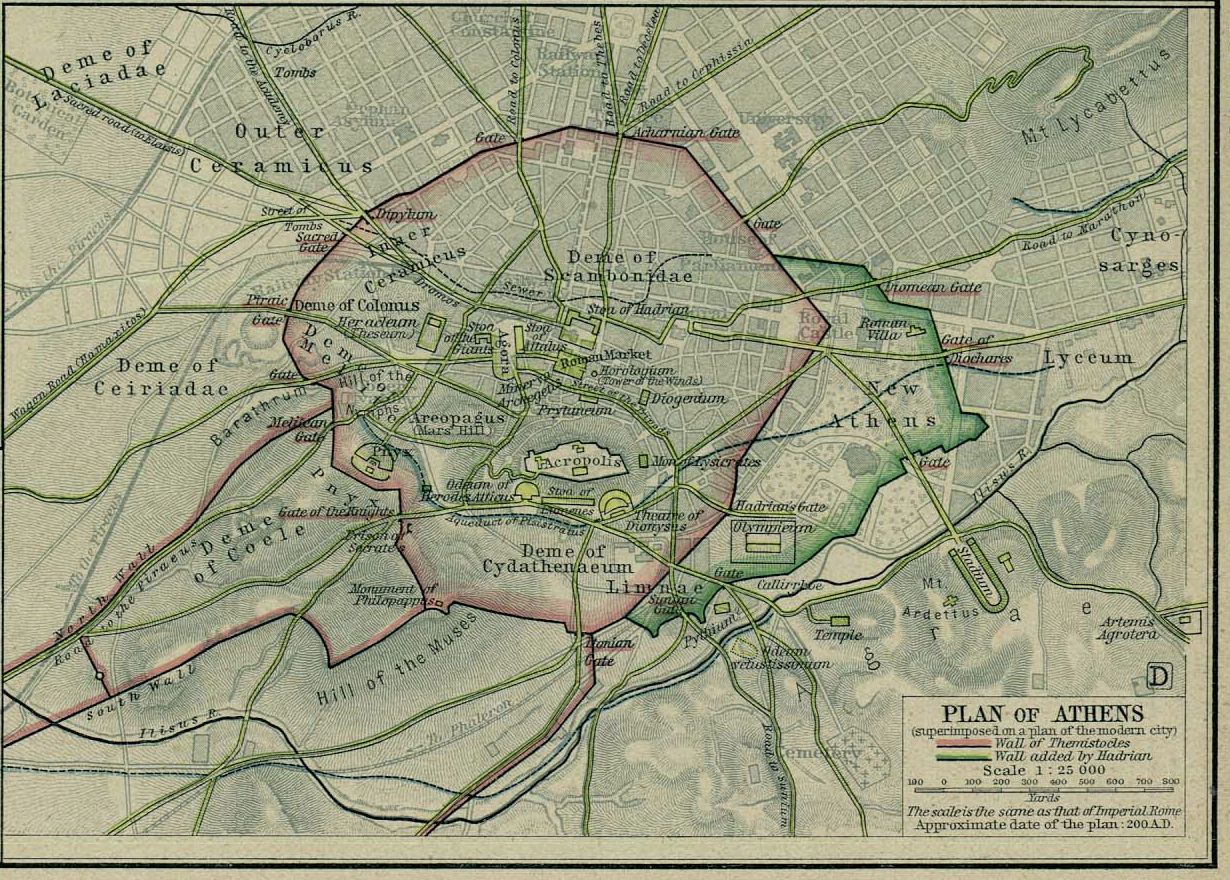 Map of City of Athensc. AD 200