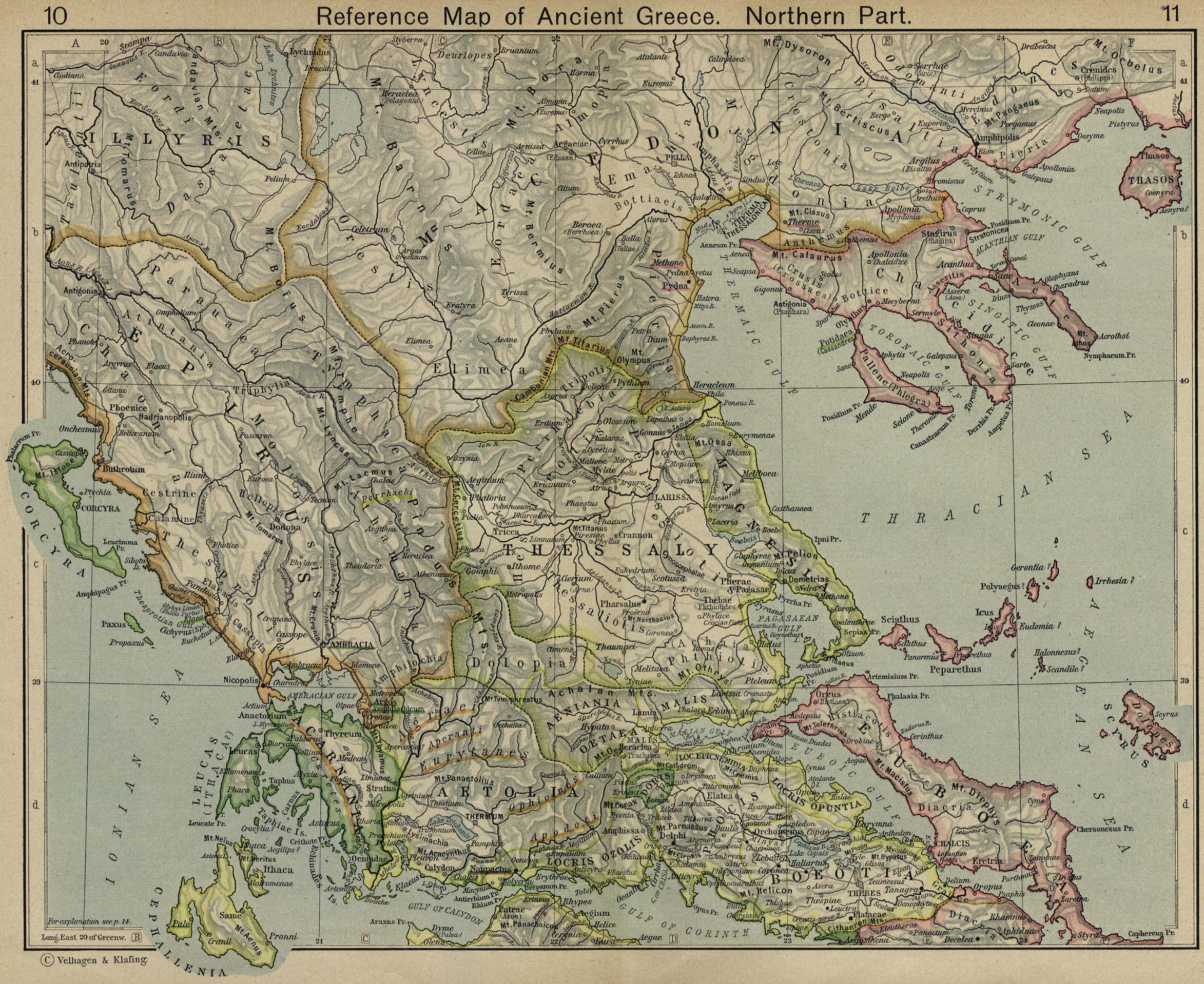 Map of Northern Greece403 BC - AD 180