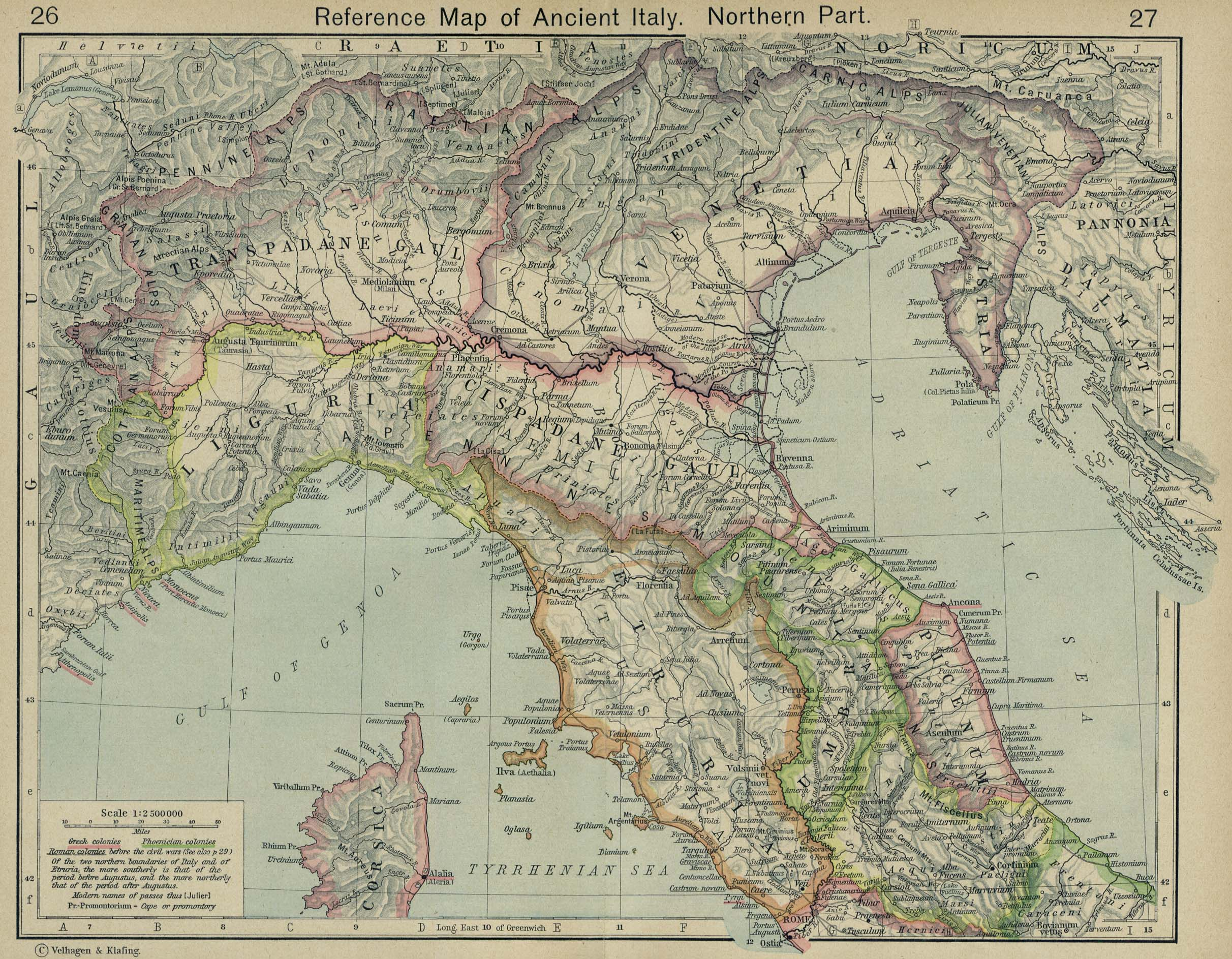 Map of Northern Italy403 BC - AD 180