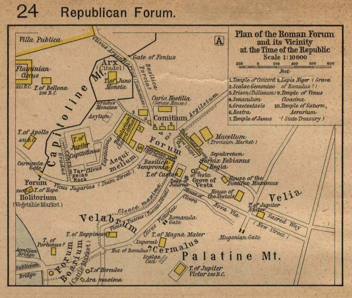 Map of Roman Forumc. 218 BC
