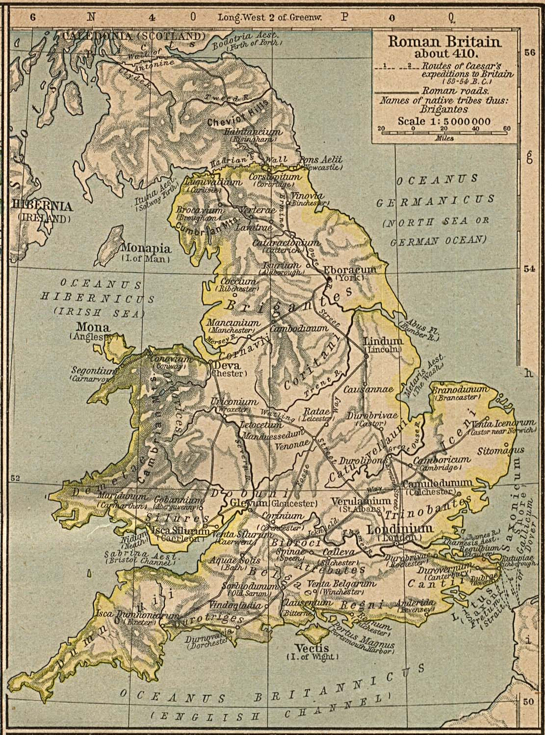 Map of Britainc. AD 410