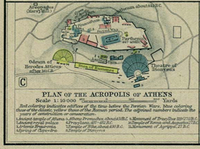 Map of Athenian Acropolis c. AD 200