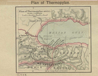 Map of Thermopylae c. 480 BC